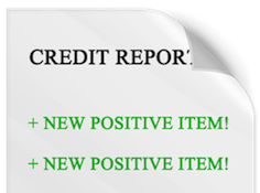 Build credit with positive items