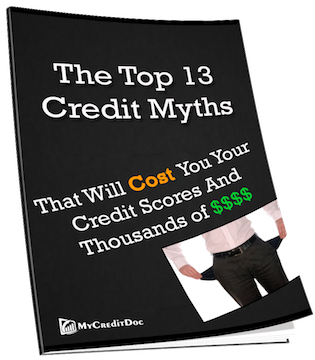 13 credit myths and credit repair mistakes